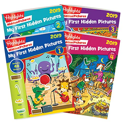 Highlights My First Hidden Pictures 2019 - 4 Book Set by Highlights