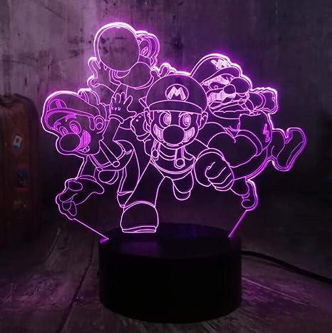 Luces De Noche 3D Lámpara De Mesa LED Figura De Acción Del Juego ...