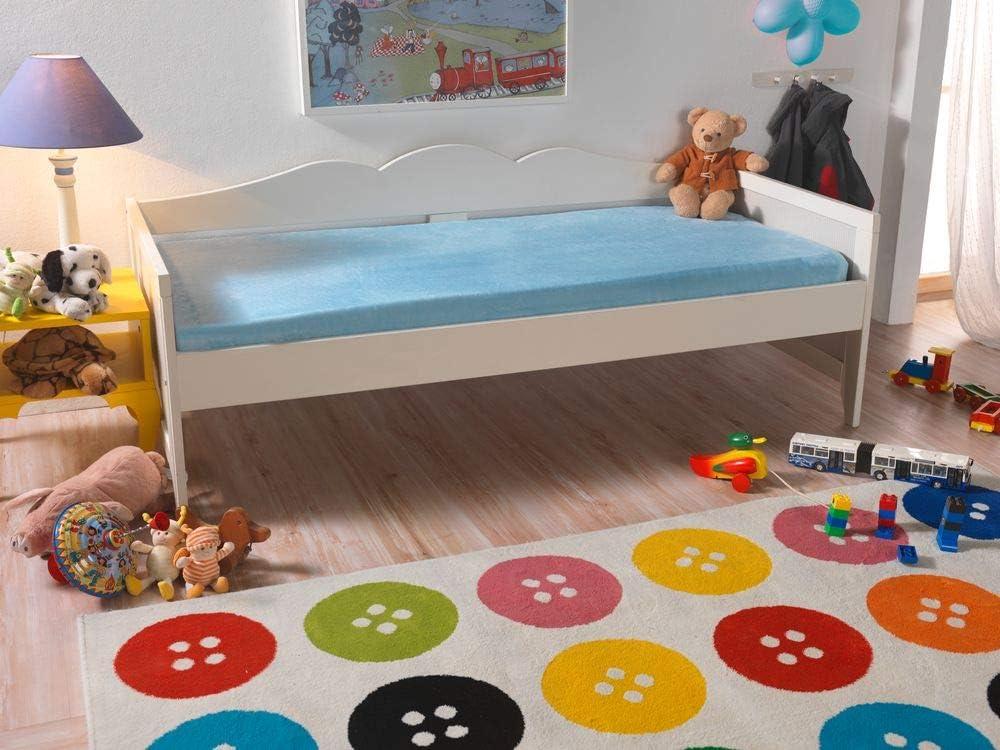 Doppelpack, himmelblau MALIKA/® Jersey Cashmere-Touch Pl/üsch Kinder Spannbettlaken f/ür Kindermatratze Kinderbett 60x120-70x140 Spannbetttuch Bettlaken