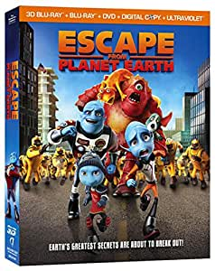 Escape From Planet Earth  (Blu-ray + DVD + Digital UltraViolet)