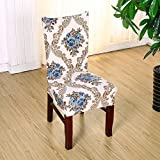 Stretch Removable Washable Dining Chair Protect Seat Cover Slipcover for Hotel Dining Room Ceremony (Style 10)