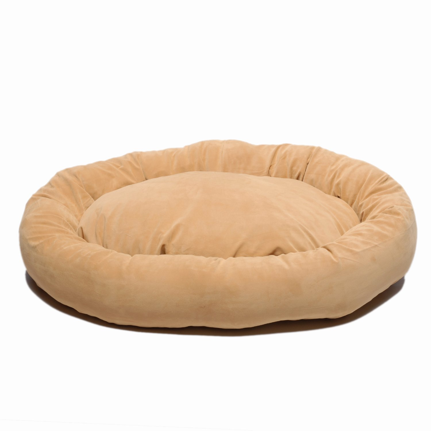 CPC Microfiber Small Bagel Bed, Caramel