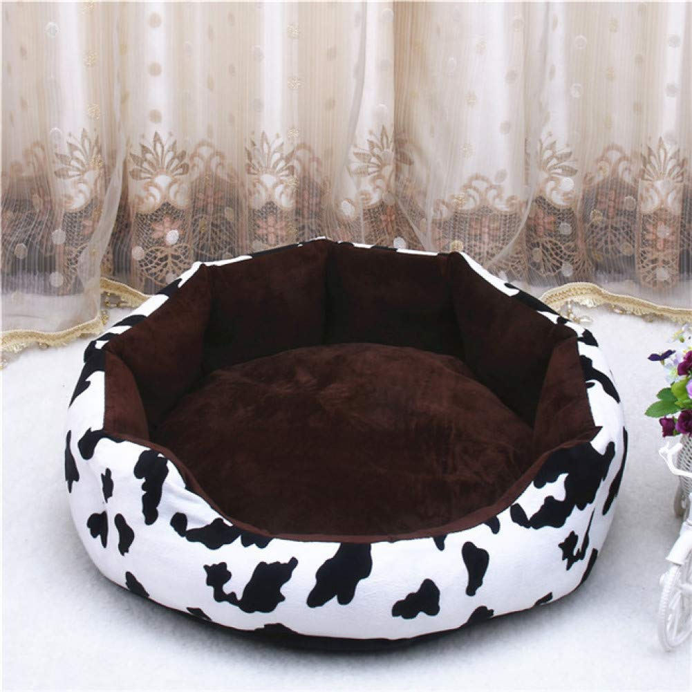black L Dog Cat bed soft milk cow cushion pet dog house blanket bed Tiger Lines removable small medium dogs
