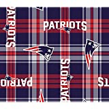 NFL New England Patriots Plaid Licensed Fleece Fabric NL-NFL-55-OT