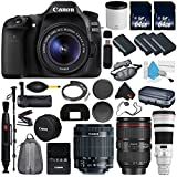 6Ave Canon EOS 80D DSLR Camera with 18-55mm Lens International version (No Warranty) + Canon EF 500mm f/4L IS II USM Lens + Battery Grip + LP-E6N Replacement Lithium Ion Battery Bundle