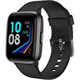 YAMAY Smart Watch, Watches for Men Women Fitness Tracker Blood Pressure Monitor Blood Oxygen Meter Heart Rate Monitor IP68 Wa
