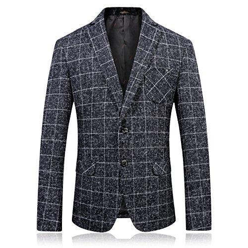 Sndofej Tweed - Anzug, Herrenbekleidung, männer - Einzel - Anzug, karos, lässig wollanzug,Farbe,52