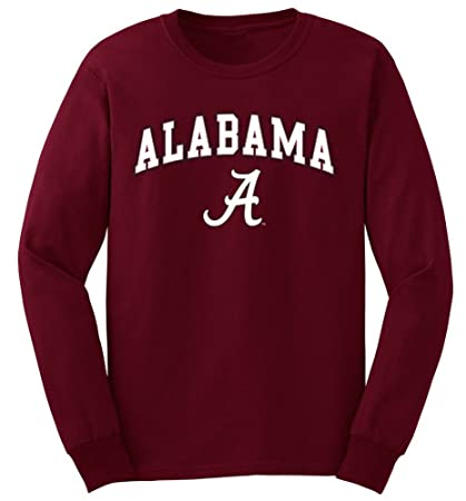 1ccfcc28f92 Elite Fan Shop Alabama Crimson Tide Long Sleeve T Shirt Arch - M - Cardinal
