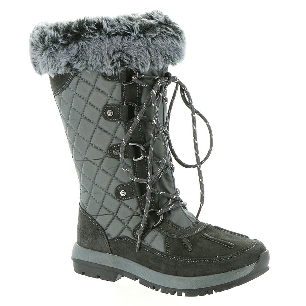 BEARPAW Quinevere Tall Waterproof Boot for Women B06XRR3PJR 5 B(M) US|Charcoal