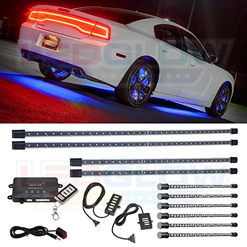4pc blue led car interior lights - 7