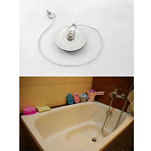 JiaUfmi Stainless Steel Bathroom Sink Drain Plug with Chain Bathroom ...