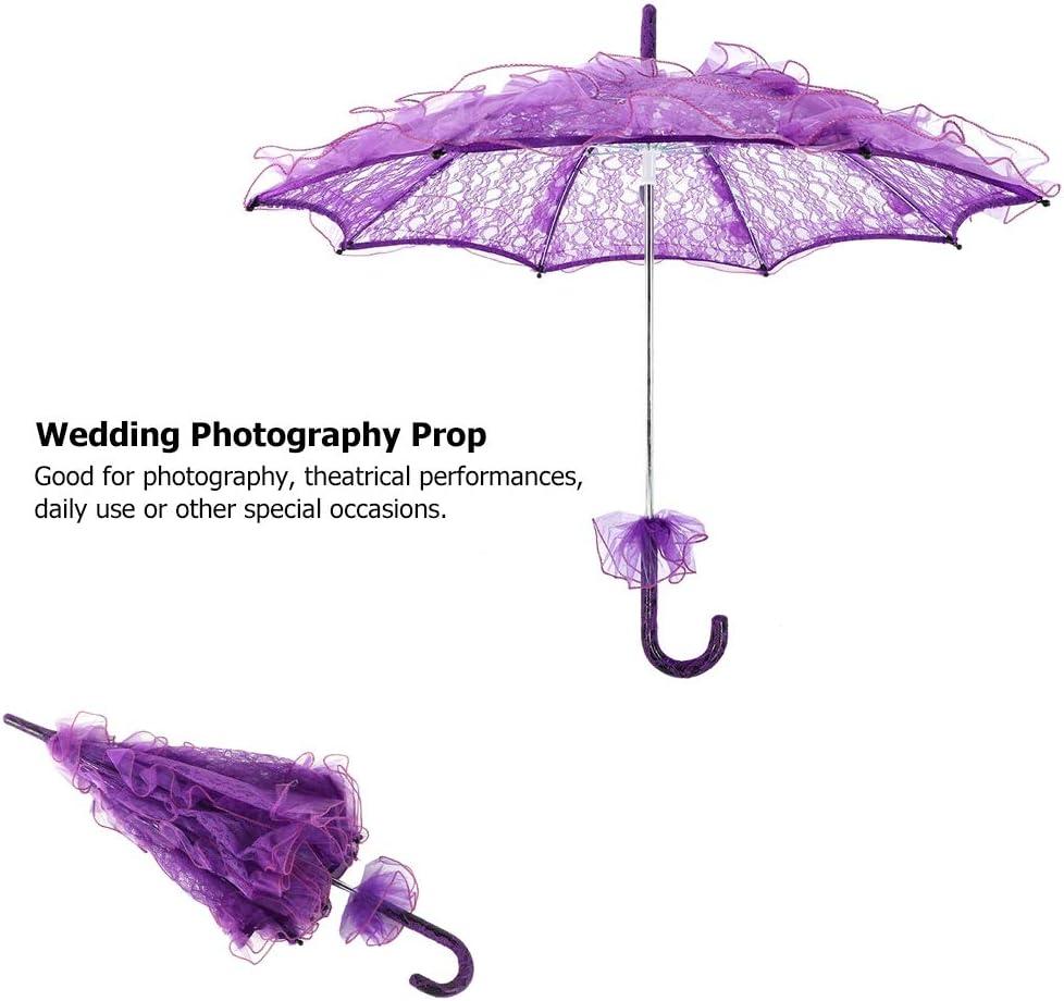 Orange Parapluie de dentelle parapluie brod/é /à la main filles demoiselle dhonneur parapluie de dentelle de mari/ée Parasol dentelle