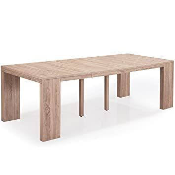 INTENSEDECO Table Console Extensible Oxalys XL Chêne Clair ...