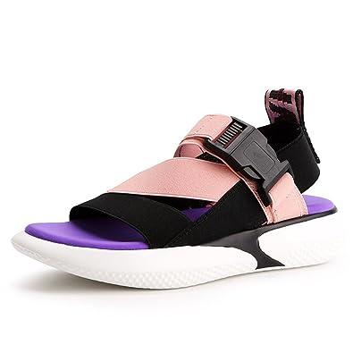 JRenok Strandsandalen Damen Tangas Non-Slip Fashion Sandalen Flat Open Heels Schwarz 36 NL8Jv