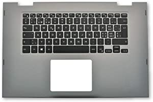 GAOCHENG Laptop Palmrest for DELL Inspiron 15 5568 5578 P58F Gray 00HTJC 0HTJC 0MRW04 MRW04 with Swiss SW Backlit Keyboard Upper case New