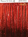 ShinyBeauty Mermaid-Sequin Curtain-Backdrop-Red&Silver-8FTx10FT,Reversible Sequin Fabric Backdrops For Photography,Apply to Party/Wedding/Event/Prom/Birthday