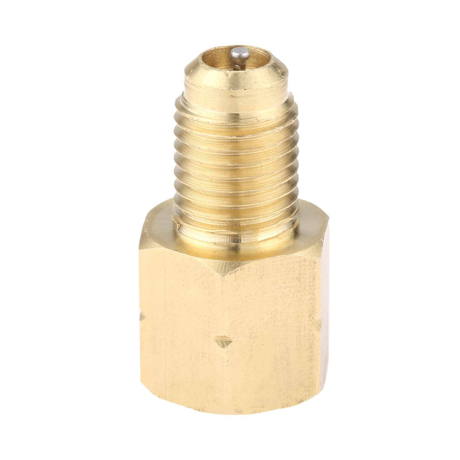 Wisepick R1234YF Can Tap 1//2/″ ACME w//LH threads female X 1//4/″ SAE female X 1//2/″ ACME male Vacuum Pump Adapter