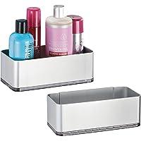mDesign - Douchemand - planchet/doucherek -praktisch/zelfklevend/zonder boren - wandmodel/met handdoekenrek - voor alle…