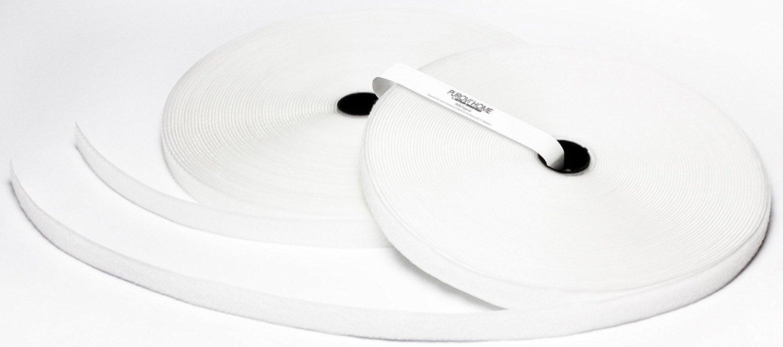 Purovi Nastro adesivo a strappo | Da cucire | 5 m lunghezza x 20 mm larghezza | Ideale per abiti | Bianco