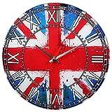 british clock - Union Jack British Flag Wall Clock