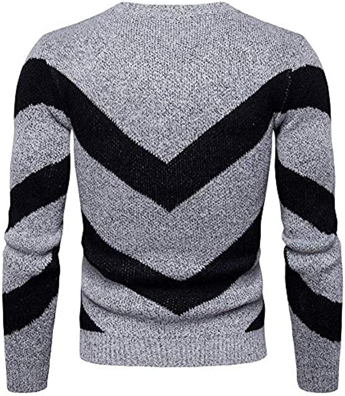 Emmay męski sweter sweter dziany bluza z kapturem okrągły kołnierz oversize sweter długi rękaw koszulka z długim rękawem bluza z kapturem istotna sweter: Odzież