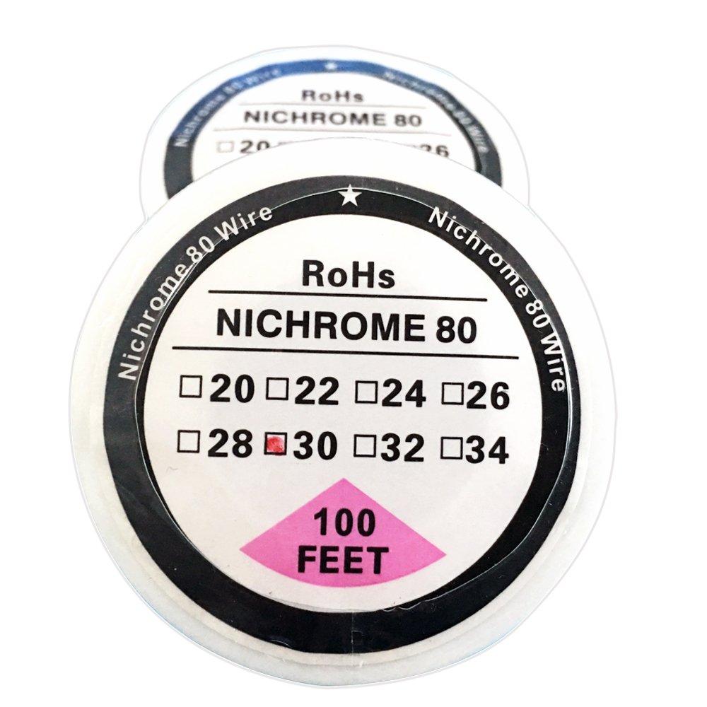 da 0,81 mm a 0,15 mm con diametro da 20 a 34 AWG Filo di resistenza da 30,5 m su bobina in nicromo 80