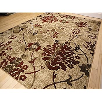 Amazon Com Universal Rugs 105202 Ivory 5x7 Area Rug 5