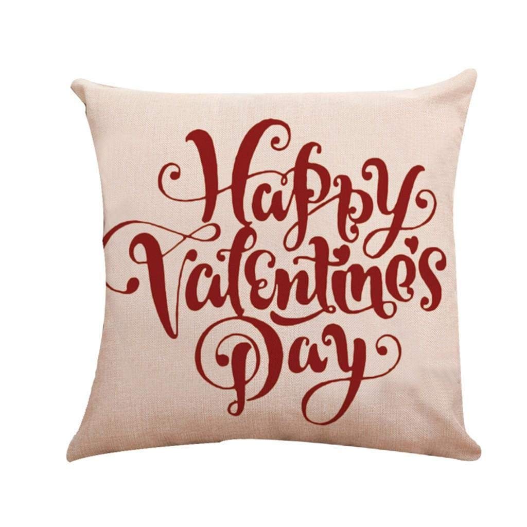Fundas de Cojines,SHOBDW Regalo de San Valentin Sofá de ...