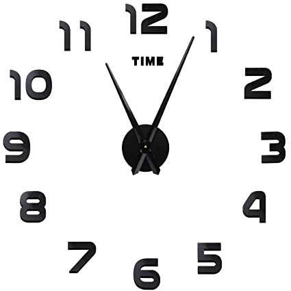 Reloj de Pared SOLEDI 3D DIY Reloj de Etiqueta de Pared Decoración Ideal Para la Casa