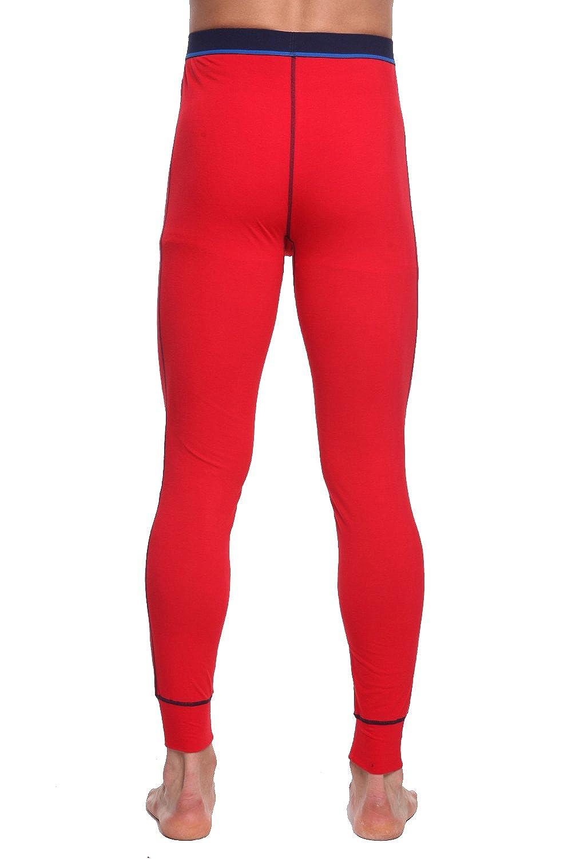 TONLEN Mens Mid-Weight Thermal Pants Cotton Long Johns Long Underwear