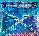 Burundi - 2012 The Greenland Shark - 4 Stamp Sheet - 2J-326