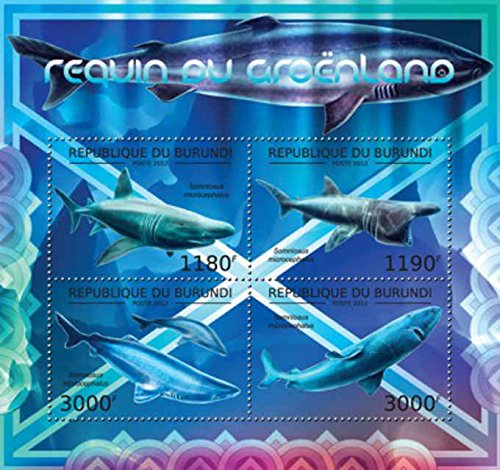 Burundi - 2012 The Greenland Shark - 4 Stamp Sheet - 2J-326 (Stamp Greenland)