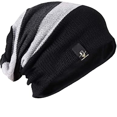 f393a0f945 FORBUSITE Beany Winter Summer Men's and Women's Slouch Beanie Hat B08 -  Multicolour ...