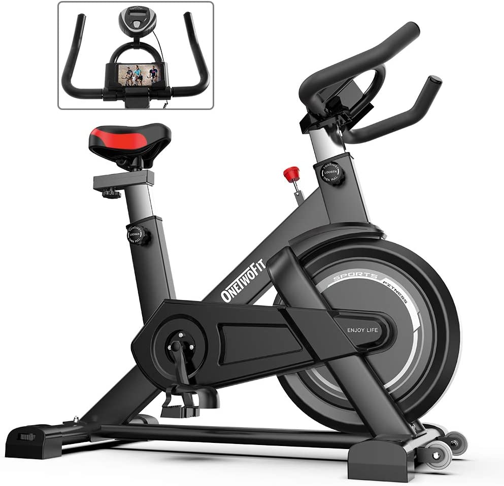 Details about  /Indoor Cycling Stationary Bike Exercise Bike for Home Gym Cardio Training Black