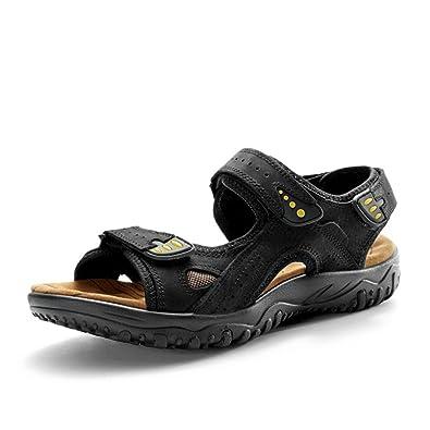 Men's Sandles Leather Athletic Sport Beach Flats Shoes