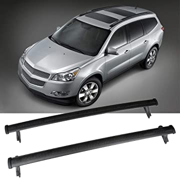 SCITOO fit for 2009-2017 Chevrolet Traverse Sport Utility Aluminum Alloy Roof Top Cross Bar Set Rock Rack Rail