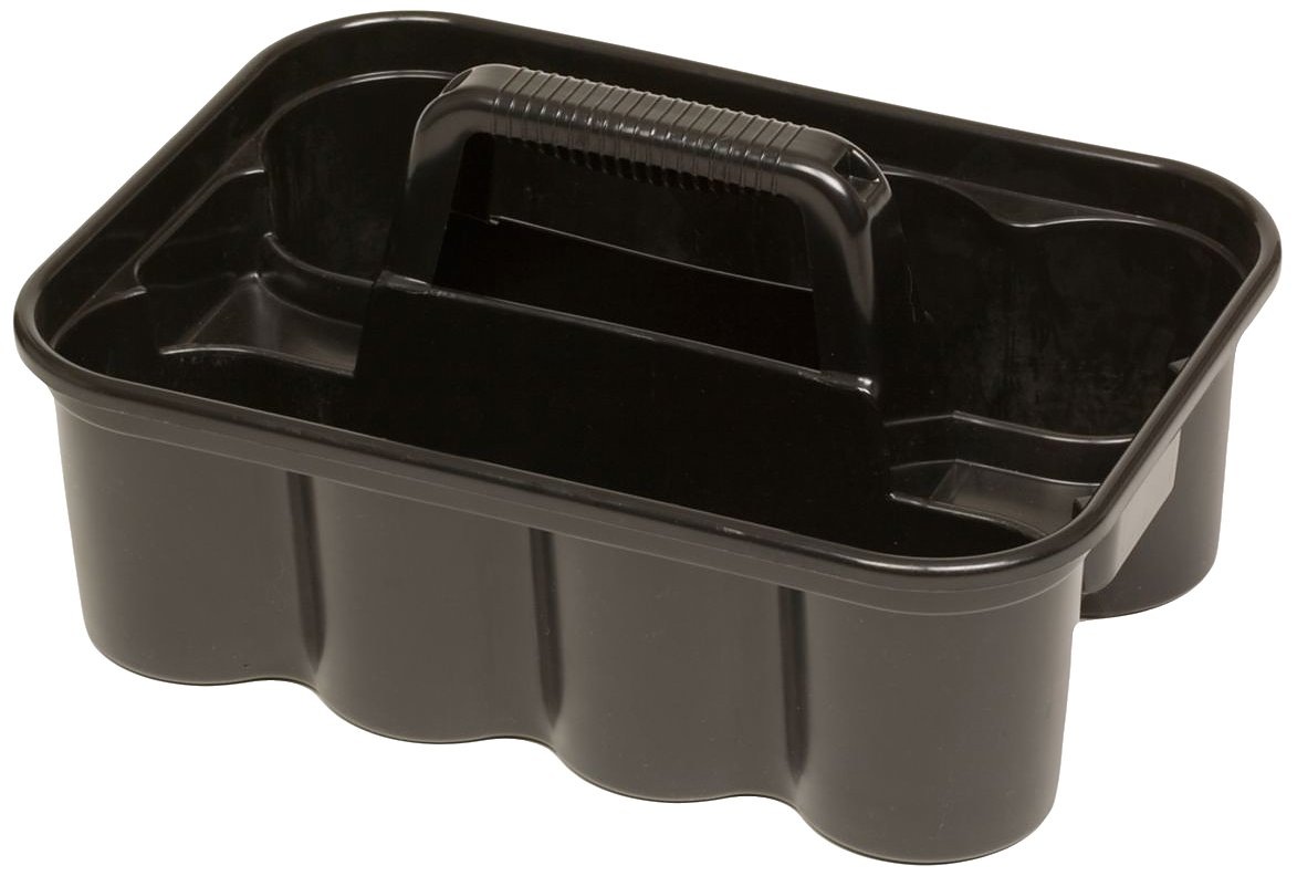 Rubbermaid Commercial Products FG315488BLA Deluxe Carry Caddy, Black (Pack of 6) by Rubbermaid Commercial Products (Image #1)