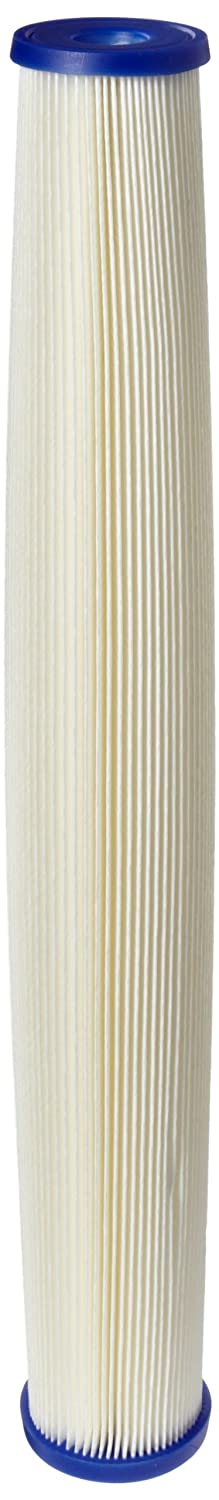 Pentek ECP20 20 Pleated Cellulose Polyester Filter Cartridge 20 x 2 5 8 20 Microns