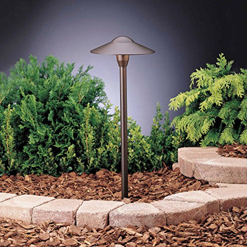 Kichler 15310AZT6 Path & Spread Fixture, 1 Light, 12 Volts, Textured Architected Bronze (6-Pack)
