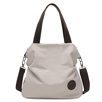 Amazon.com: Sanxiner Women's Casual Canvas Tote Bags Shoulder ...