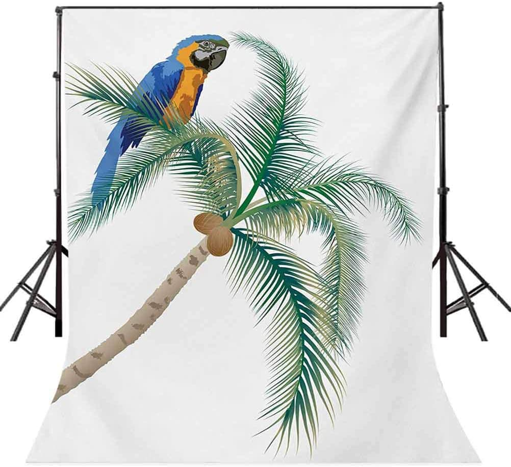 Cartoon 8x10 FT Backdrop Photographers,Fantasy Fisherman House Fairytale Underwater Life Fishes Coral Cloudy Sky Background for Photography Kids Adult Photo Booth Video Shoot Vinyl Studio Props