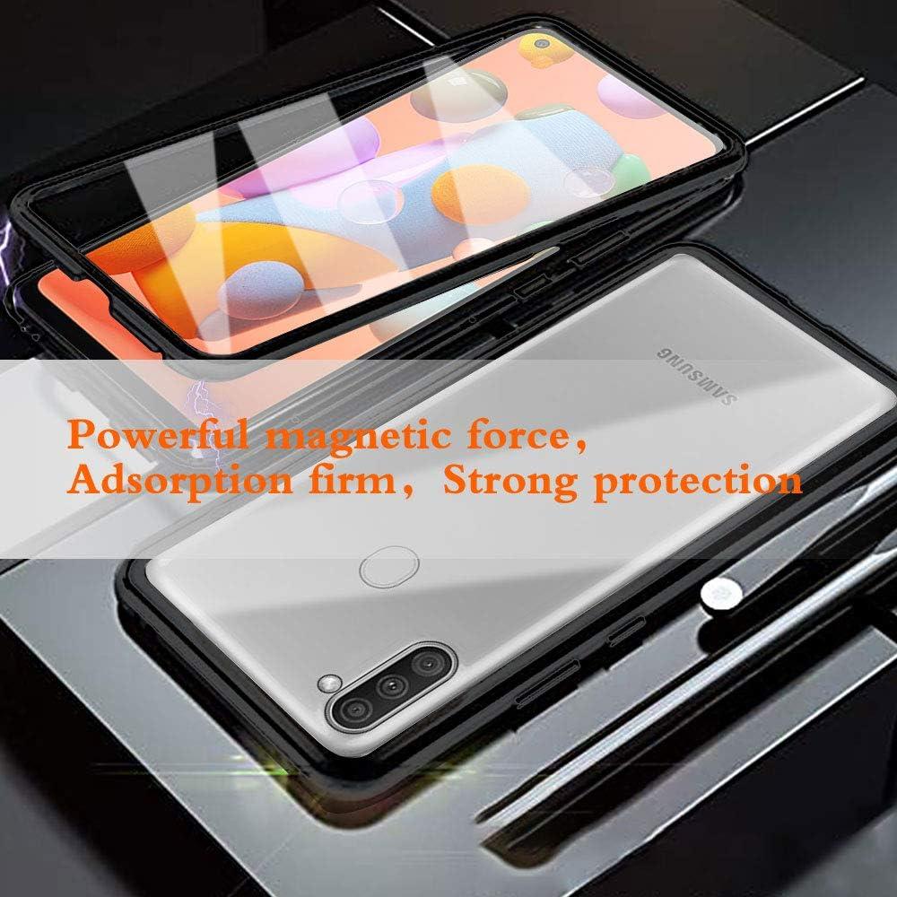 Verde Funda para Samsung Galaxy A51 Carcasa Adsorci/ón Magn/ética E-Lush Funda 360 Grados Protecci/ón Transparente Caso Metal Flip Cover Frontal y Posterior Vidrio Templado Anti Choque Case Cover