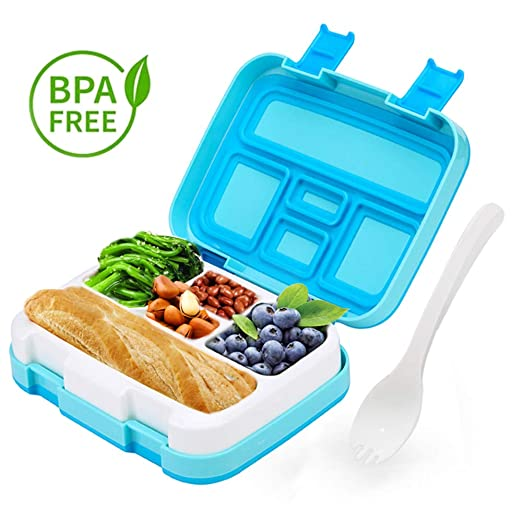 LAKIND Fambrera Infantil, Lunch Box, con 5 Compartimentos ...