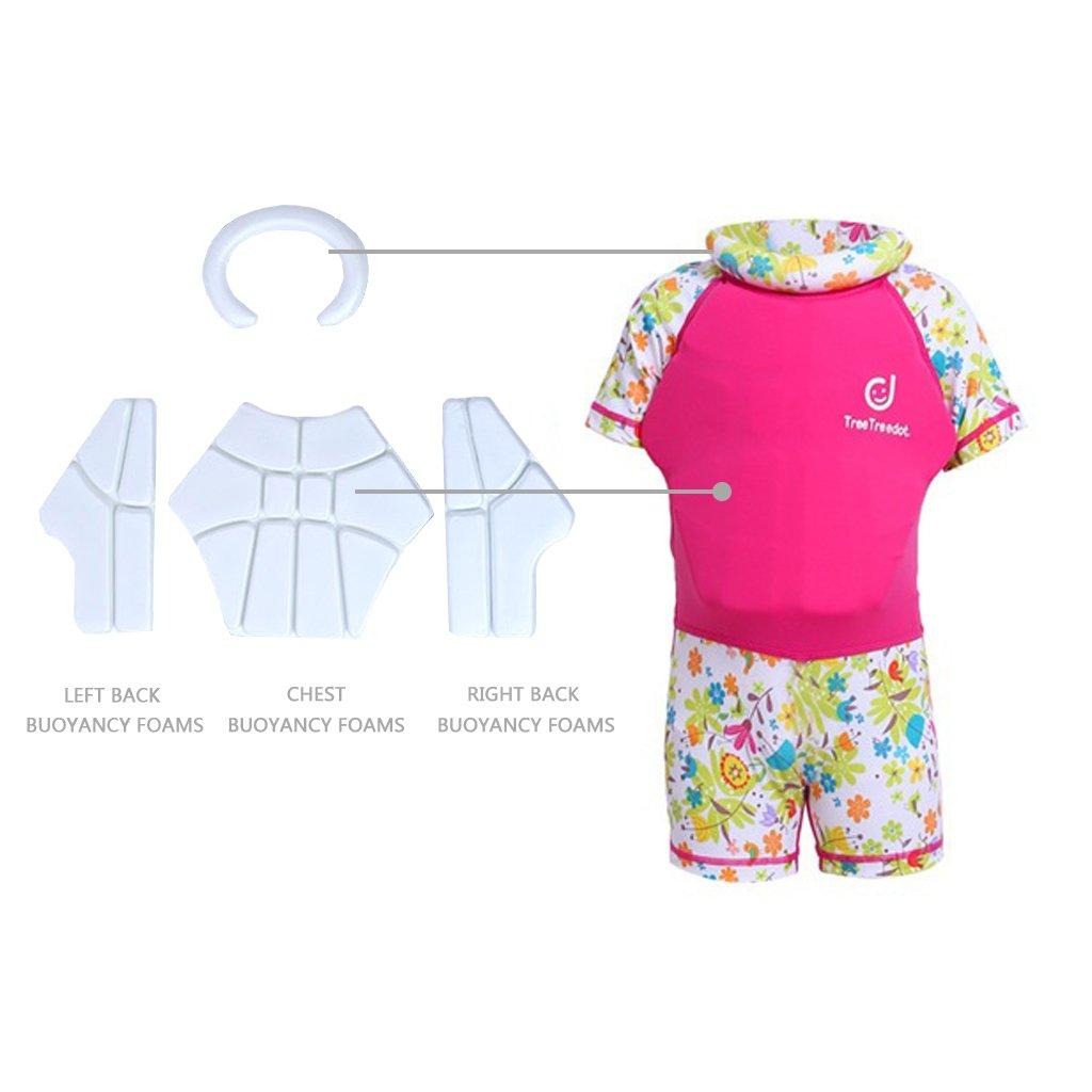 Gogokids Baby Boys Girls Float Suit Toddler Kids Floating Swimsuit Buoyancy Swimwear One-Piece Shorty Swimming Costume UV Sun Protection 1-7 Years