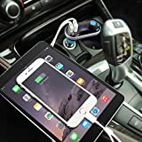 [Upgraded Version] VicTsing Bluetooth MP3 Player FM Transmitter Hands-free Car Kit Charger, Dual USB Charging 5V/2.1A Output, Micro SD/TF Card Reader Slot for iPhone 7 SE 6s 6s Plus iPhone 6 6 Plus, Samsung Galaxy S6 S6 Edage S7 S7 Edage, iPad, etc - Silver Bild 8