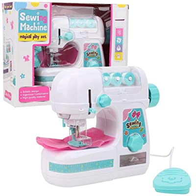 Portable Sewing Machine Toys Educational Interesting Toy for Beginners, Kids, Girls, Children, Travel, Quick Repairs & Small Sewn Projects: Home & Kitchen