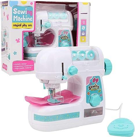 Portátil máquina de coser eléctrica, tamaño mediano estilo de costura Craft Kit juguetes educativos interesantes para niños: Amazon.es: Bebé