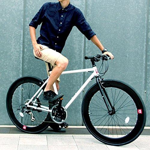 クロスバイク 700c(約28インチ)/ホワイト(白) シマノ21段変速 軽量 重さ11.2kg 【HEBE】 ヘーべー CAC-024【代引不可】 生活用品 インテリア 雑貨 自転車(シティーサイクル) クロスバイク top1-ds-1634429-ah [簡素パッケージ品] B06XQVGWJK