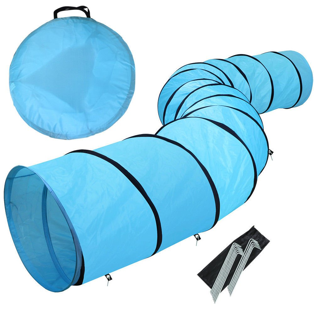 Eight24hours Dog Cat Training Tunnel Pet Agility Obedience Exercise Runway 18' Home Outdoor + FREE E-Book