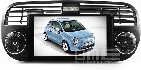 Fiat 500 Cinquecento Radio 6.2 Touch DVD GPS Navi USB SD Blue ...